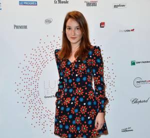 """Anaïs Demoustier naturelle et ravissante lors du vernissage de l'exposition """"Lumière ! Le cinéma inventé"""" au Grand Palais le 26 mars 2015."""