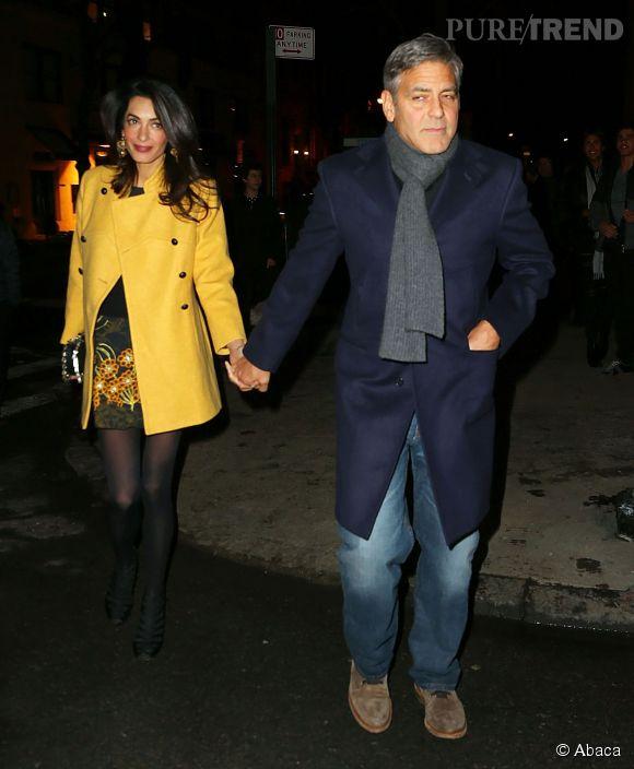 Amal et George Clooney dans les rues de New York