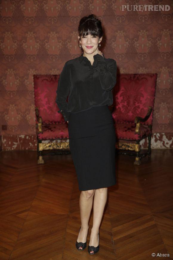 Mélanie Doutey chic et glamour toute en noir.