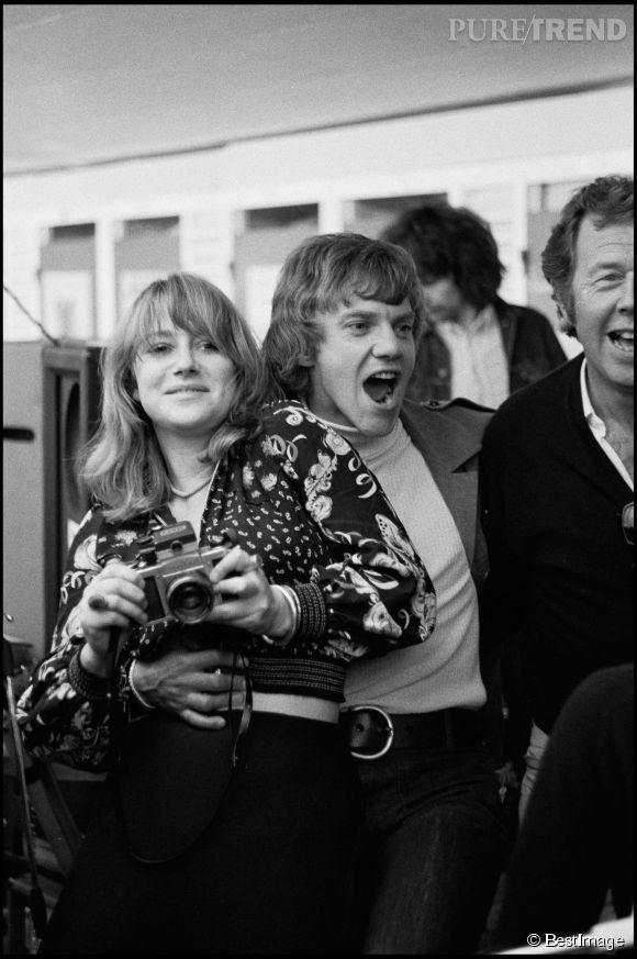 Helen Mirren et Malcolm McDowell en 1973.