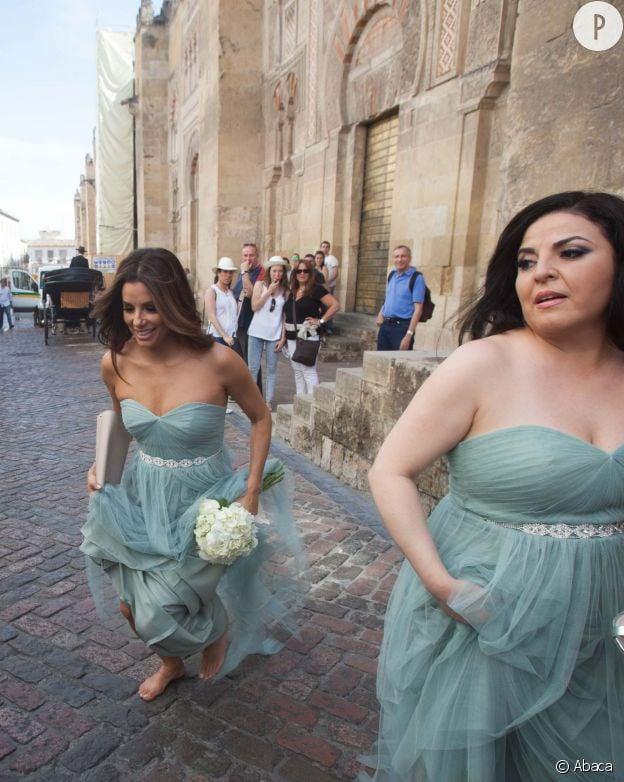 Eva Longoria au mariage d'un couple d'amis à Córdoba en Argentine.
