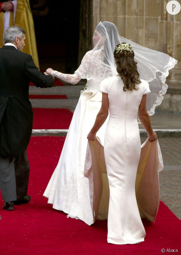 Pippa Middleton le 29 avril 2011 au mariage de Kate et William.