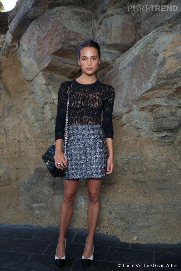 Alicia Vikander au défilé Louis Vuitton Croisière2016à Palm Springs le 6 mai 2015.