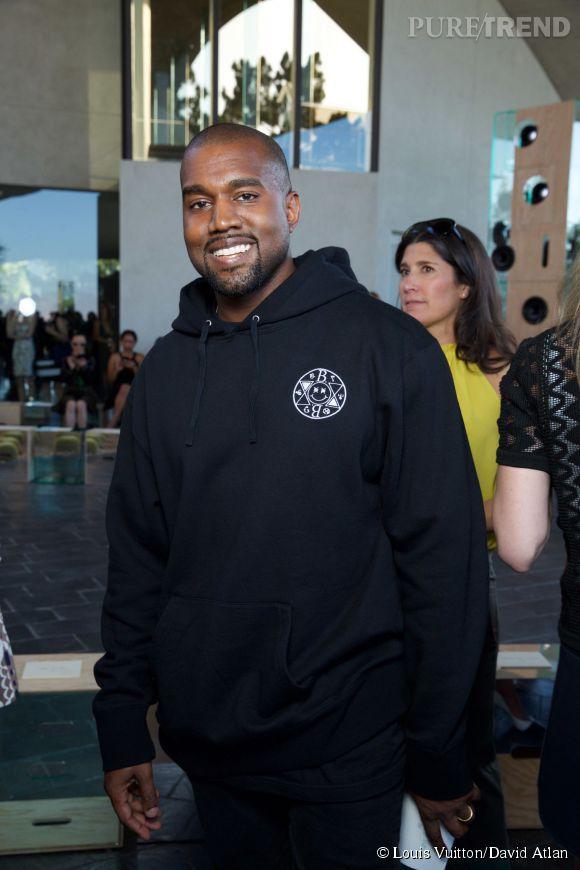 Kanye West au défilé Louis Vuitton Croisière2016à Palm Springs le 6 mai 2015.