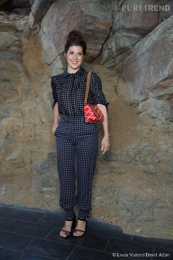 Marissa Tomei au défilé Louis Vuitton Croisière2016à Palm Springs le 6 mai 2015.