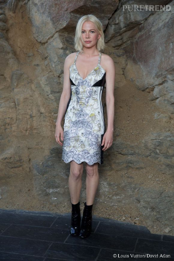Michelle Williams au défilé Louis Vuitton Croisière 2016 à Palm Springs le 6 mai 2015.