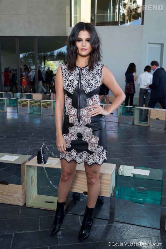 Selena Gomez au défilé Louis Vuitton Croisière 2016 à Palm Springs le 6 mai 2015.