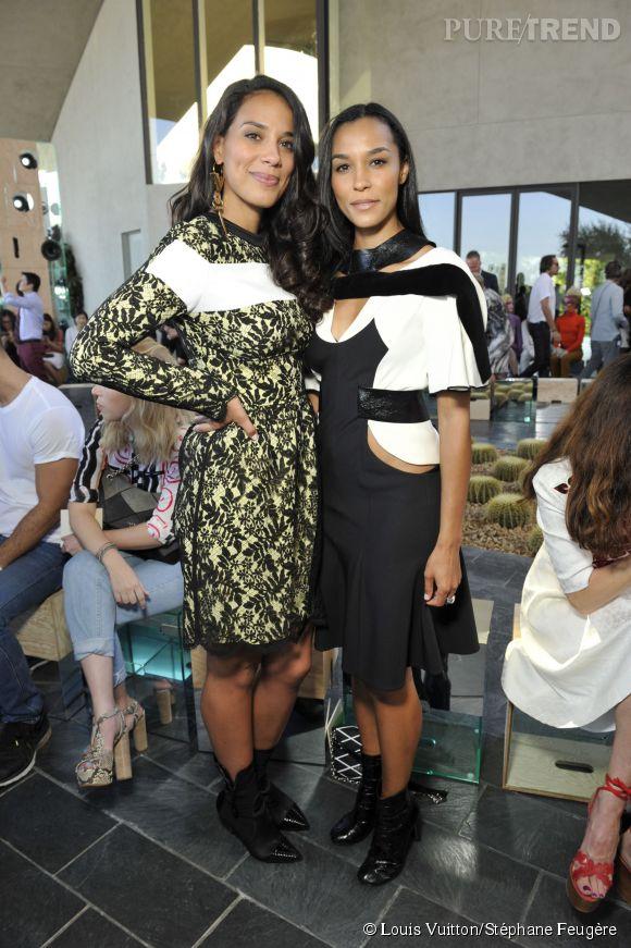 Les soeurs Brooklyn et Amanda Sudano au défilé Louis Vuitton Croisière 2016 le 6 mai 2015 à Palm Springs.