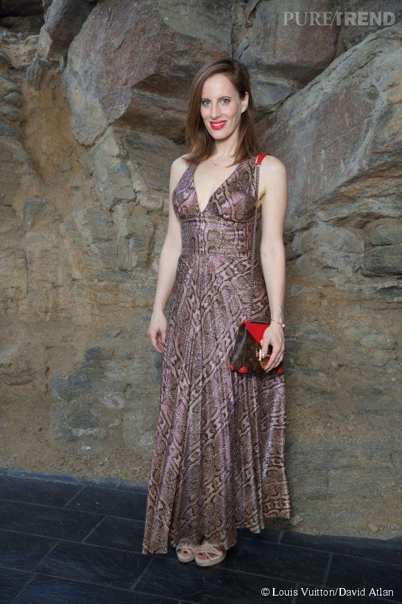 Liz Goldwyn au défilé Louis Vuitton Croisière2016à Palm Springs le 6 mai 2015.