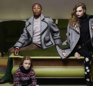 Cara Delevingne, Pharrell Williams et Hudson Kroenig pour Chanel Métiers d'Art Paris-Salzburg.