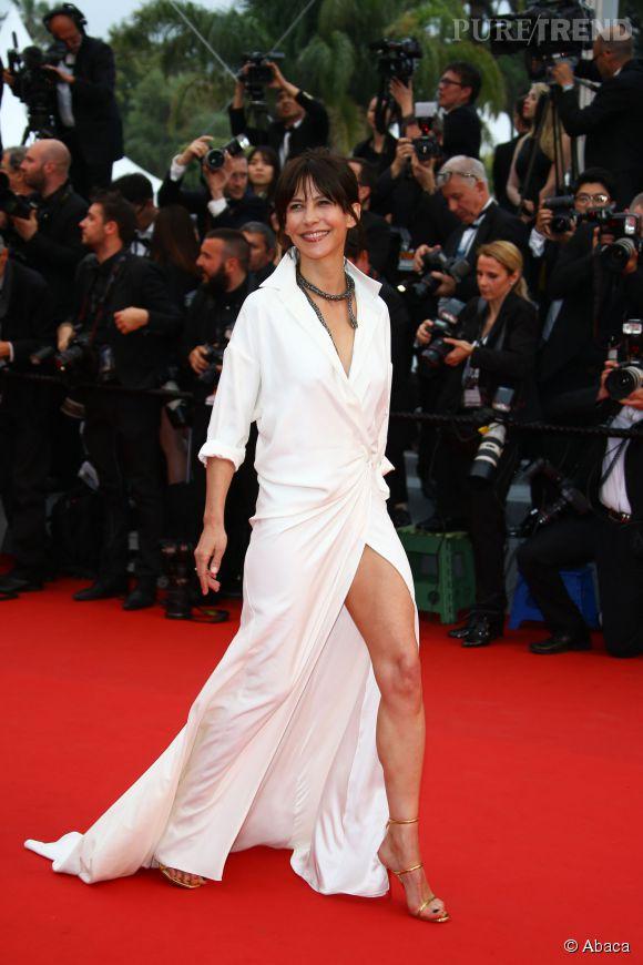 Sophie Marceau, sexy en robe fendue Alexandre Vauthier.