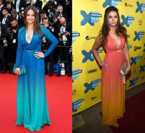 Marie Gillain vs Nina Dobrev : la robe tie & dye Elie Saab