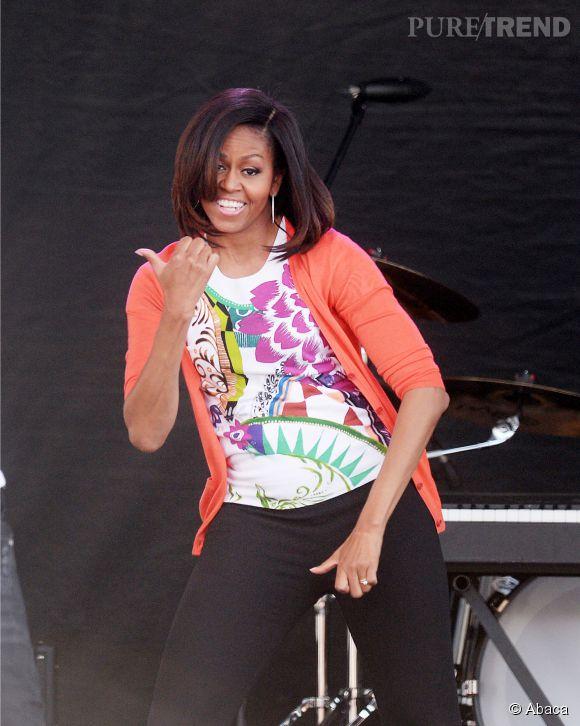 Michelle Obama n'a jamais peur de mouiller le maillot pour prouver que le sport est bénéfique.