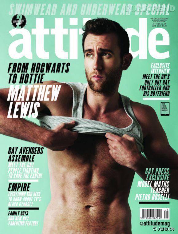 """Matthew Lewis, alias Neville Londubat dans """"Harry Potter"""", méconnaissable et diablement sexy pour le magazine Attitude."""