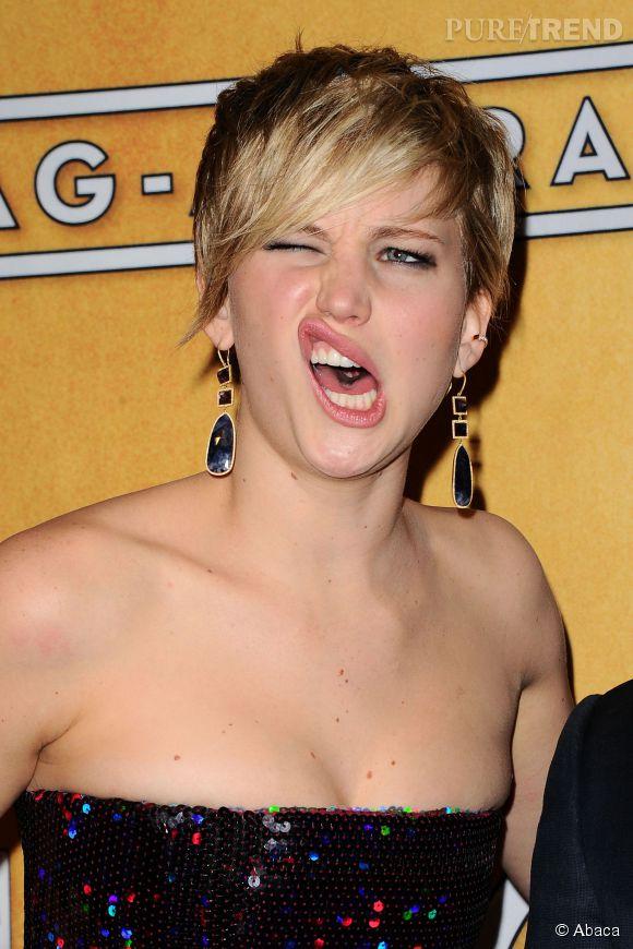 """Jennifer Lawrence est surnommé la """"Queen of derp""""."""