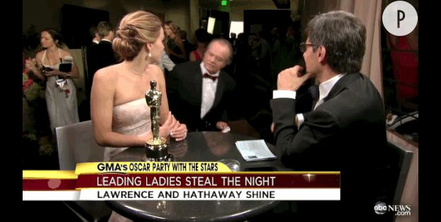 Jennifer Lawrence avec Jack Nicholson aux Gloden Globes 2014