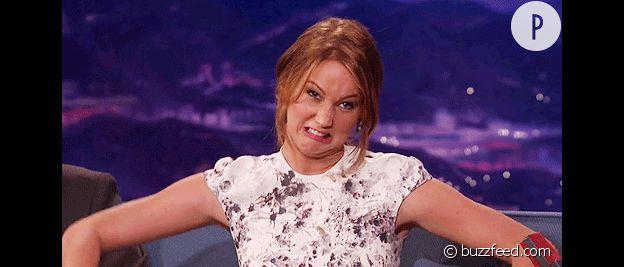 Jennifer Lawrence toujours très naturelle.