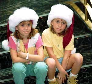 """Les jumelles Olsen du temps de la série télé """"La fête à la maison""""."""