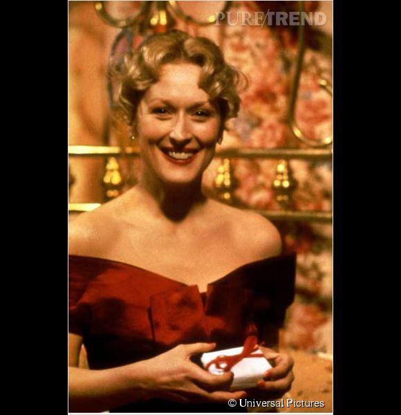 """Meryl Streep est bluffante dans """"Le Choix de Sophie"""", pour lequel elle prend l'accent polonais, lui vaut l'Oscar et le Golden Globe de la meilleure actrice."""