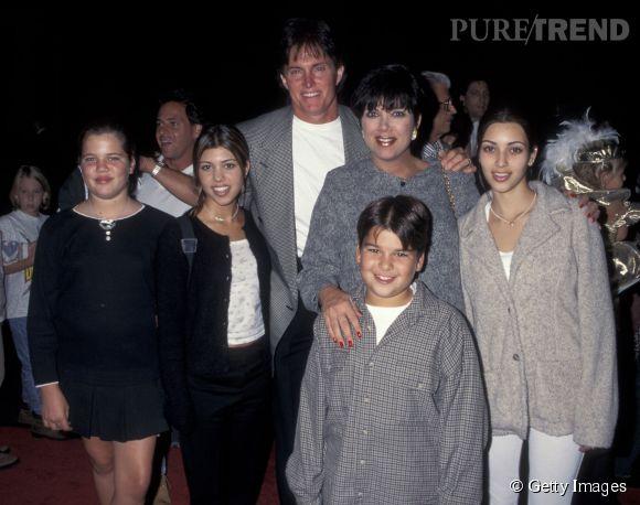 Khloe Kardashian il y a 20 ans avec sa famille.