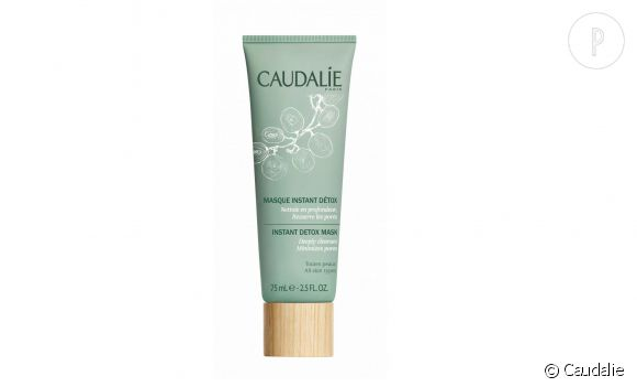 Le masque Instant Détox de Caudalie resserre les pores et éclaire le teint.