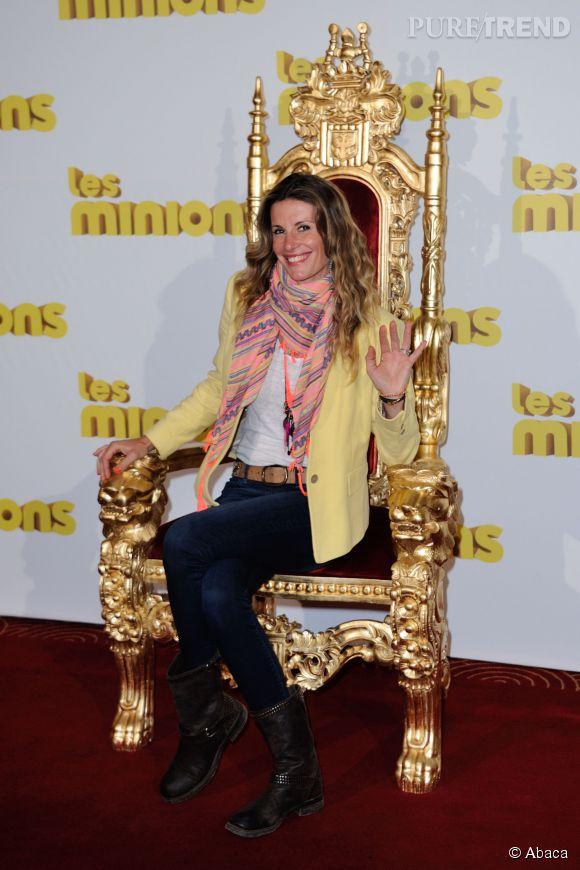 """Sophie Thalmann : Miss France 1998, toujours au top pour la première des """"Minions""""."""