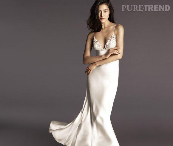 Meilleur de tous Nuisette longue en soie blanche signée La Perla portée par Liu Wen  YN09