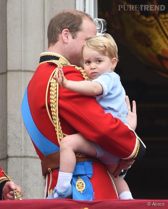 Le prince George lors de l'anniversaire de la reine Elizabeth II.
