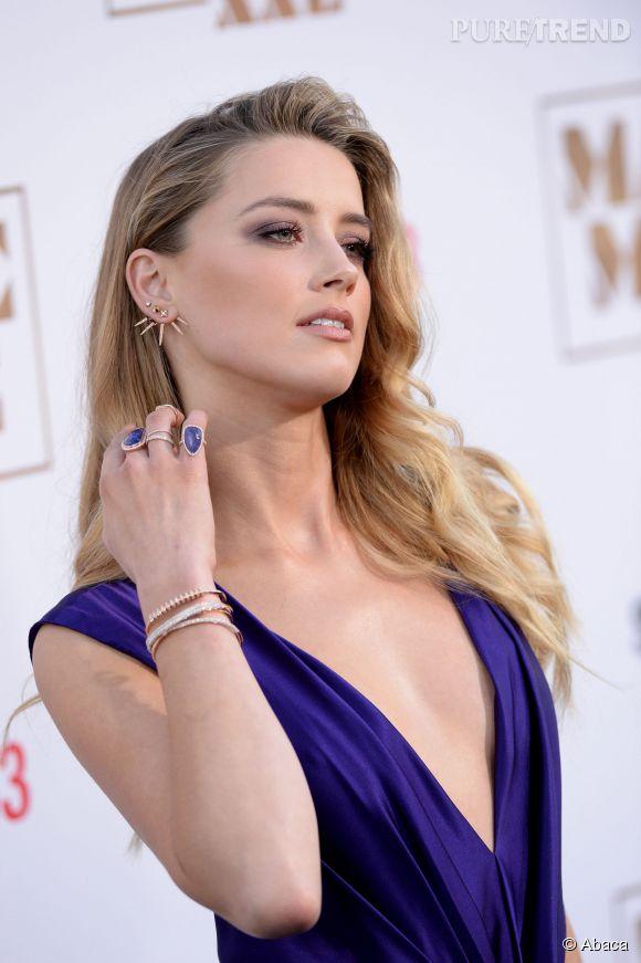 """Amber Heard accumule les bijoux à la première de """"Magic Mike XXL"""" à Los Angeles le 25 juin 2015."""