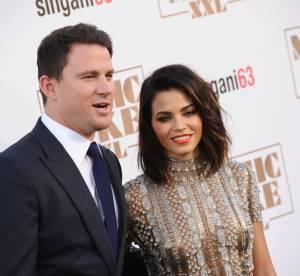"""Channing Tatum : sexy avec sa sublime femme à la première de """"Magic Mike XXL"""""""