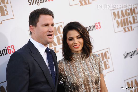"Channing Tatum et Jenna Dewan à l'avant-première du film ""Magic Mike XXL"" à Los Angeles, le 25 juin."