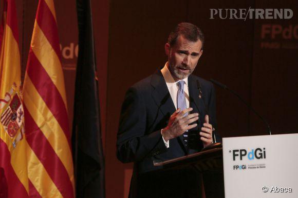 Felipe donne un discours à l'auditorium de Gerona, le 24 juin 2015.