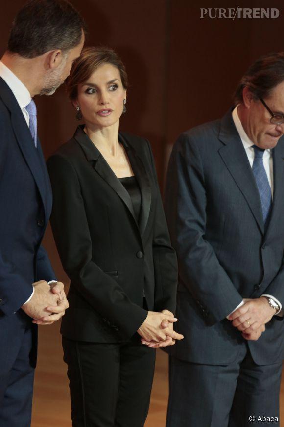 Letizia d'Espagne, très complice avec son roi.