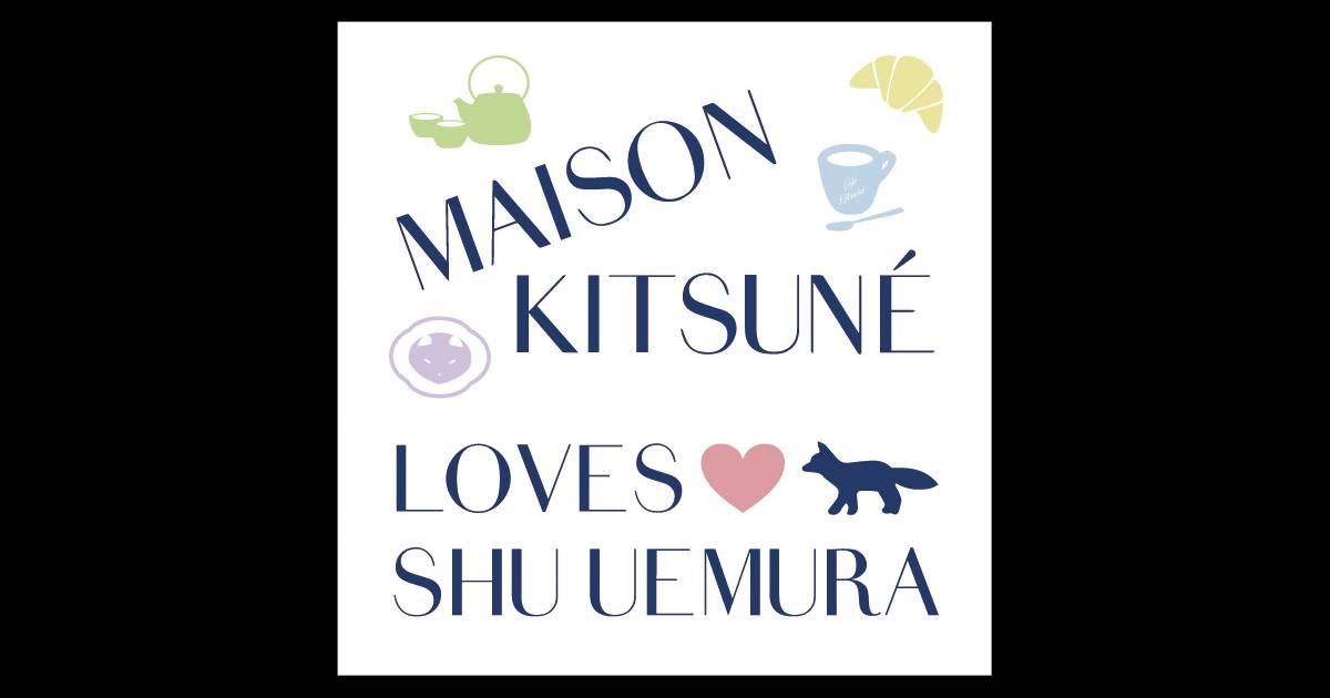 shu uemura la marque de cosm tiques collabore avec maison kitsun. Black Bedroom Furniture Sets. Home Design Ideas