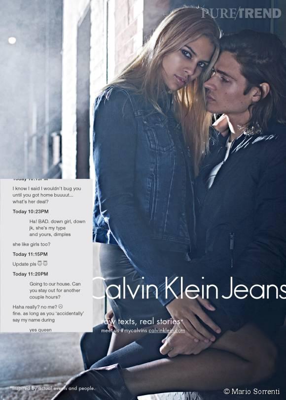 Will Peltz et Kenya Kinski Jones pour la campagne Calvin Klein Jeans Automne-Hiver 2015/2016.