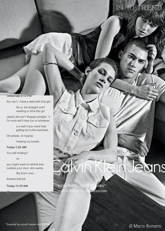 Le ménage à trois de la campagne Calvin Klein Jeans Automne-Hiver 2015/2016.