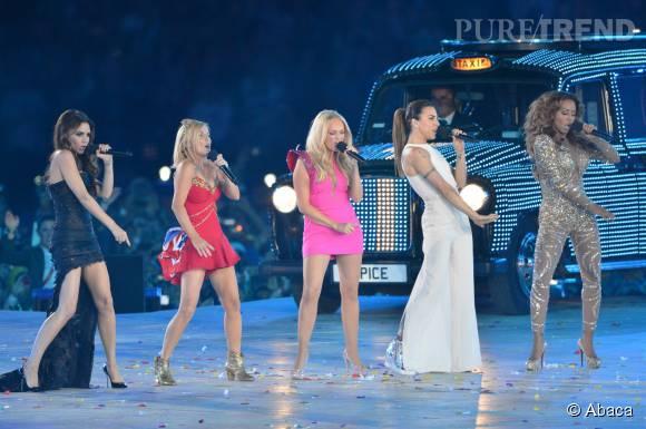 Les Spice Girls réunies pour la cérémonie d'ouverture des JO de Londres en 2012.