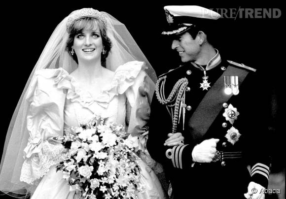 Lady Di  des photos inédites de son mariage avec le prince Charles  découvertes