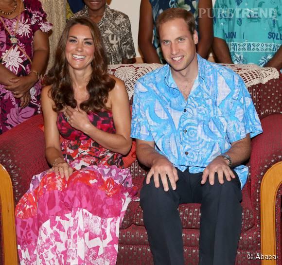 Kate Middleton et le prince William sont en vacances sur l'île Moustique.