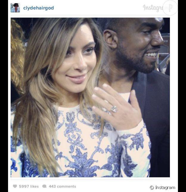 Kim Kardashian est désormais fiancée à Kanye West.