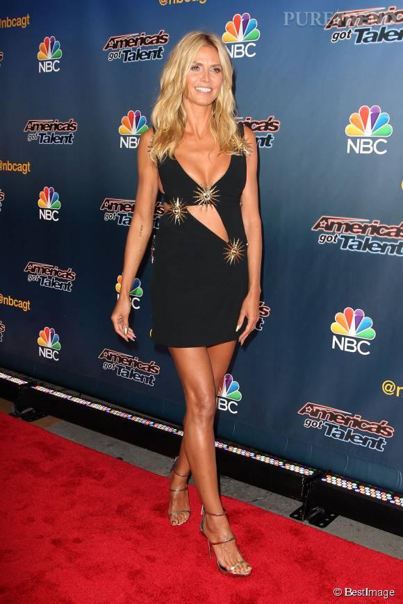 Heidi Klum a une grande spécialité : les petite robes super sexy.