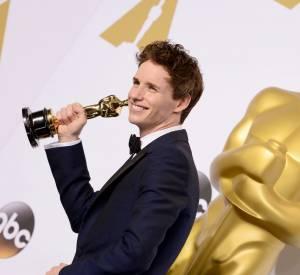 """Eddie Redmayne a reçu l'Oscar de Meilleur Acteur en 2015 pour son rôle dans """"The Theory of everything""""."""