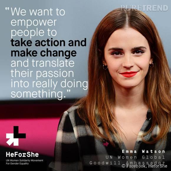 """Emma Watson avait fait un nouveau discours brillant pour la cause """"HeforShe"""", le jour de la Journée internationale des femmes."""