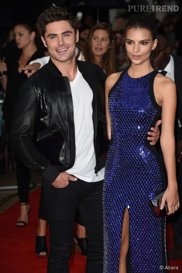 Emily Ratajkowski passe son été avec le beau Zac Efron pour la promo du film...