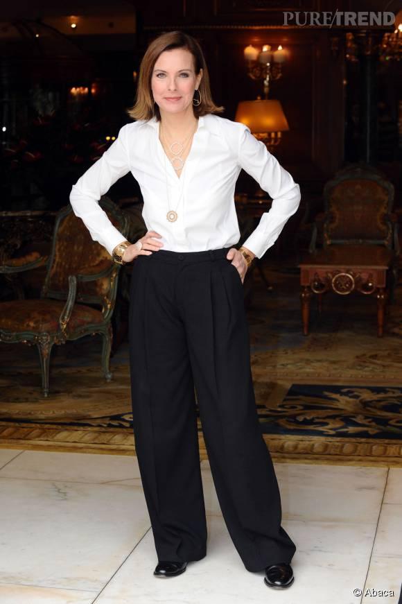 Carole Bouqueten black and white en décembre 2011.