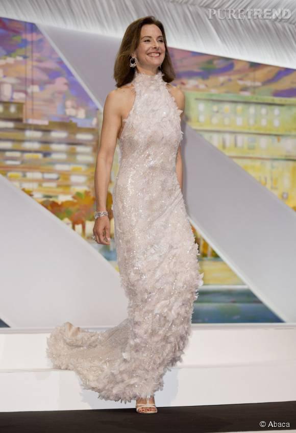 Carole Bouqueten somptueuse robe Chanel lors de l'ouverture du Festival de Cannes, en mai 2014.