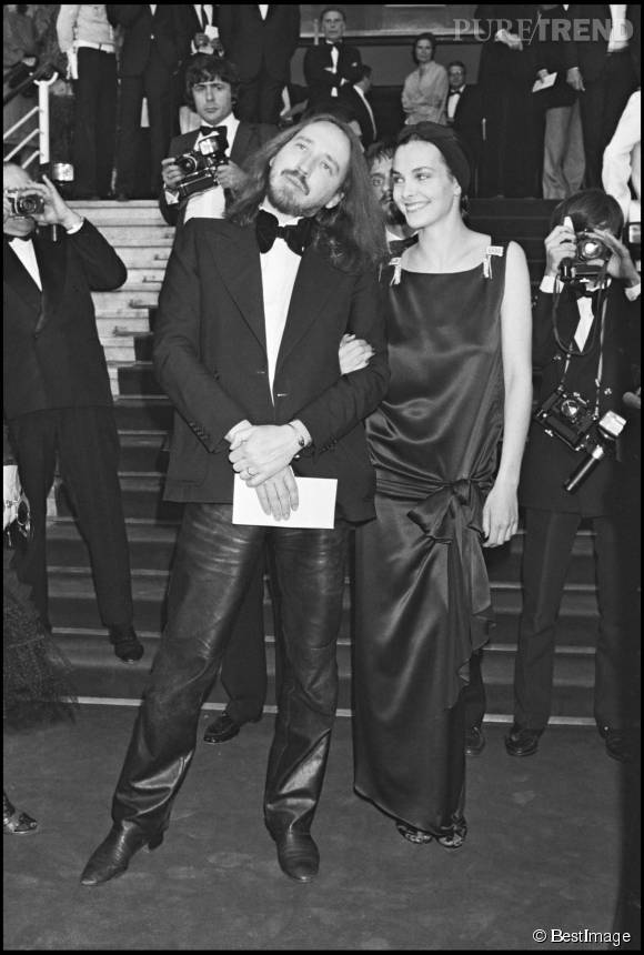 Carole Bouquet et Werner Schroeter au Festival de Cannes en 1982.