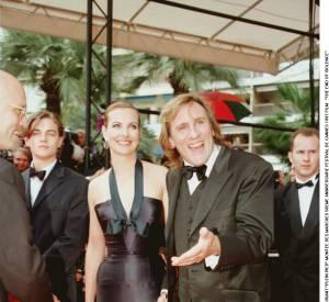 Carole Bouquet et Gérard Depardieu en mai 1997 au Festival de Cannes.