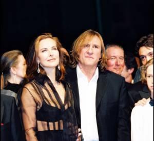 Carole Bouqueten top transparent, aux côtés de Gérard Depardieu à Cannes en 2008.
