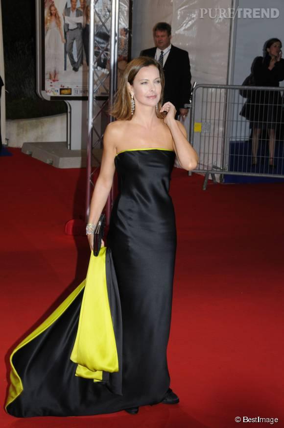 Carole Bouquet avait misé sur une robe noire et jaune lors du Festival du film de Deauville en 2008.